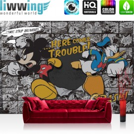 "Vlies Fototapete ""no. 1064"" | Disney Tapete Micky Maus Kindertapete Cartoon Comic Mausn Walt Disney grau | liwwing (R)"