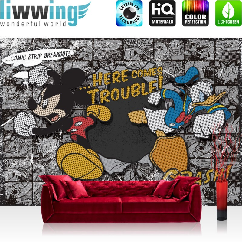 vlies fototapete no 1064 disney tapete micky maus kindertapete cartoon comic mausn walt. Black Bedroom Furniture Sets. Home Design Ideas