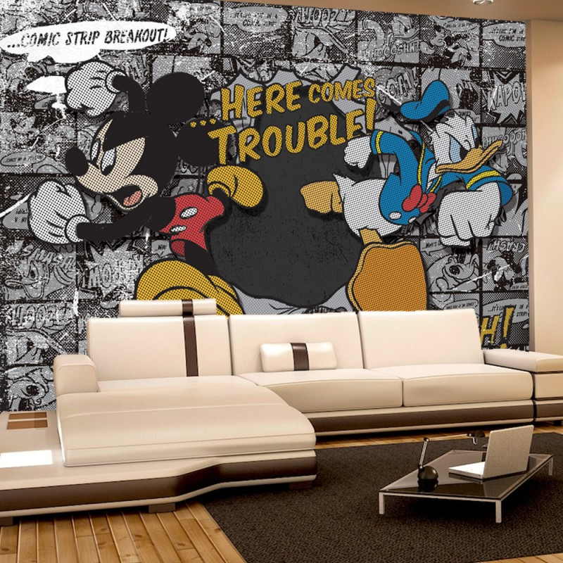vlies fototapete no 1064 disney tapete micky maus. Black Bedroom Furniture Sets. Home Design Ideas