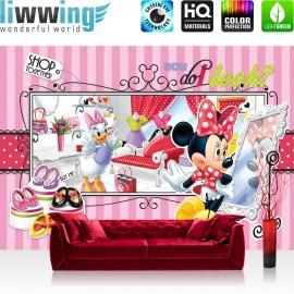 "Vlies Fototapete ""no. 1069"" | Disney Tapete Micky Maus Kindertapete Cartoon Shoppen Maus Kleider kleine Maus rosa | liwwing (R)"