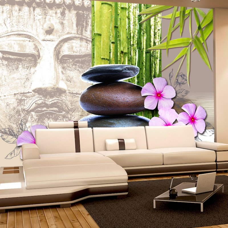 Wallpaper bambus und steine  Vlies Fototapete no. 390 | Vliestapete liwwing (R) Wellness Tapete ...