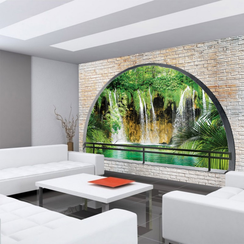 vlies fototapete no 1260 vliestapete liwwing r steinwand tapete wand steine wasserfall. Black Bedroom Furniture Sets. Home Design Ideas
