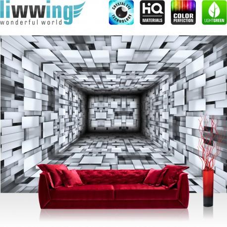Fototapete schwarz weiß muster  Vlies Fototapete no. 1262 | Vliestapete liwwing (R) 3D Tapete ...