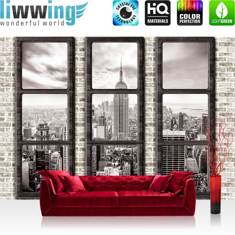 Fototapete fensterblick skyline  Vlies Fototapete no. 1384 | Vliestapete liwwing (R) New York ...