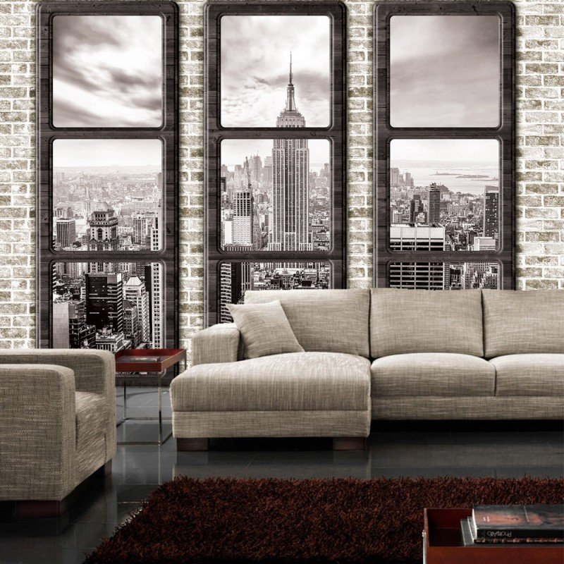 fototapete new york fenster fototapete 2017. Black Bedroom Furniture Sets. Home Design Ideas
