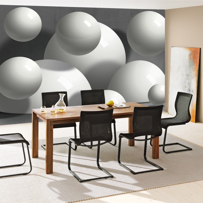 vlies fototapete no 1519 vliestapete liwwing r 3d tapete bubble kugel illustration wand. Black Bedroom Furniture Sets. Home Design Ideas