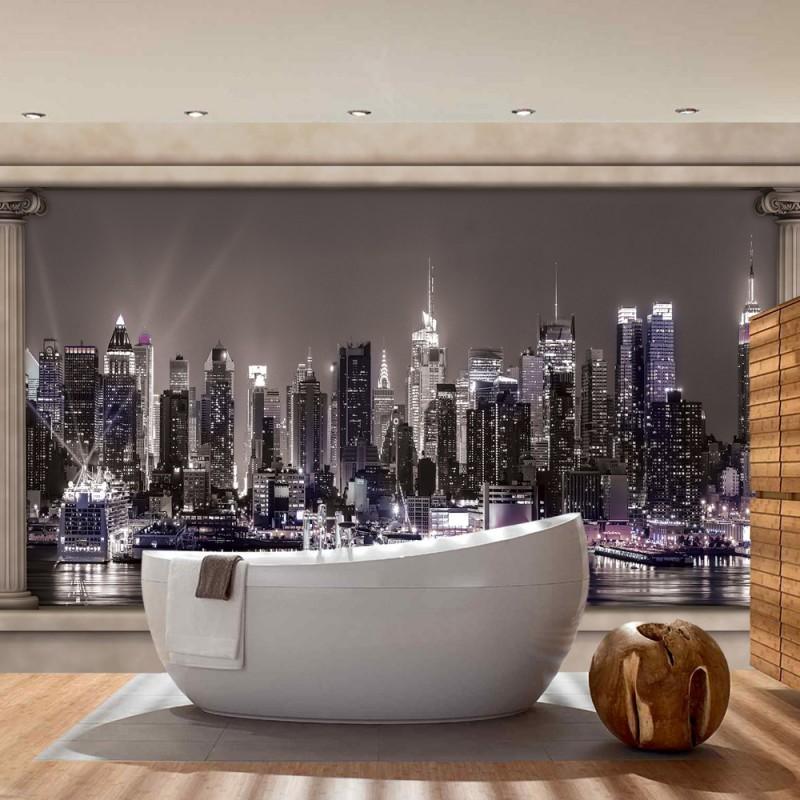 fototapete skyline schwarz wei. Black Bedroom Furniture Sets. Home Design Ideas
