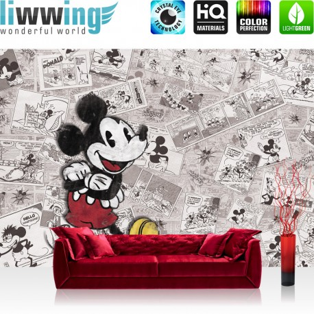 vlies fototapete no 1879 vliestapete liwwing r disney tapete cartoon comic freunde pluto. Black Bedroom Furniture Sets. Home Design Ideas