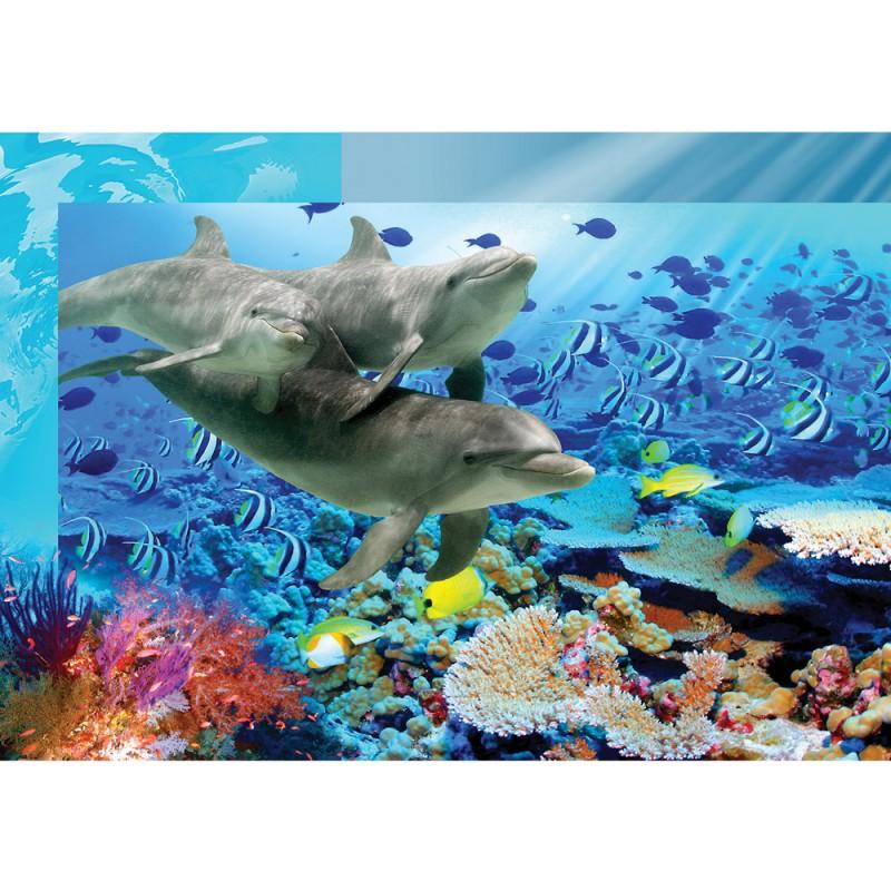 vlies fototapete no 2092 vliestapete liwwing r meer tapete aqua unter wasser delfine fische. Black Bedroom Furniture Sets. Home Design Ideas