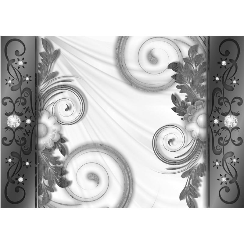 vlies fototapete no 2392 vliestapete liwwing r ornamente tapete illustration muster blumen. Black Bedroom Furniture Sets. Home Design Ideas