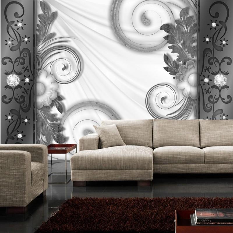 fototapete schwarz wei muster. Black Bedroom Furniture Sets. Home Design Ideas