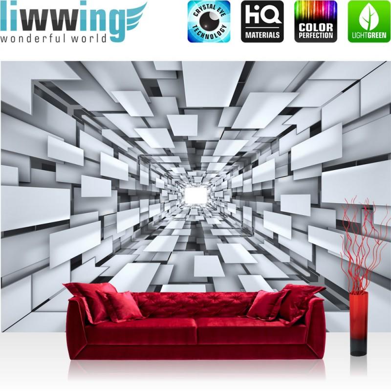 Fototapete schwarz weiß muster  Vlies Fototapete no. 2398 | Vliestapete liwwing (R) 3D Tapete ...