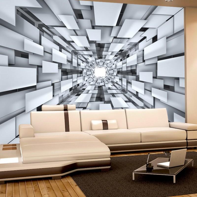 2398 3d tapete abstrakt muster rechtecke formen schwarz wei - Tapete Schwarz Weis Muster