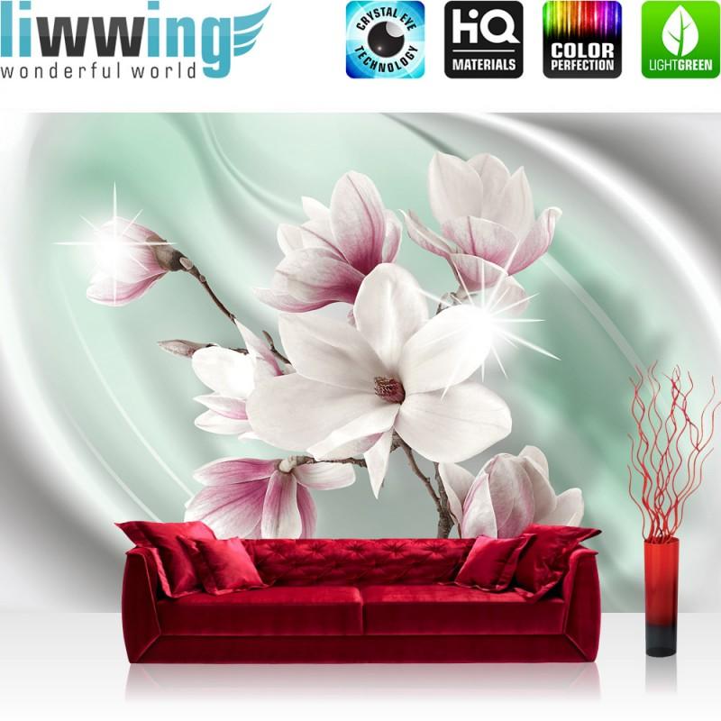 vlies fototapete no 2949 blumen tapete magnolia. Black Bedroom Furniture Sets. Home Design Ideas