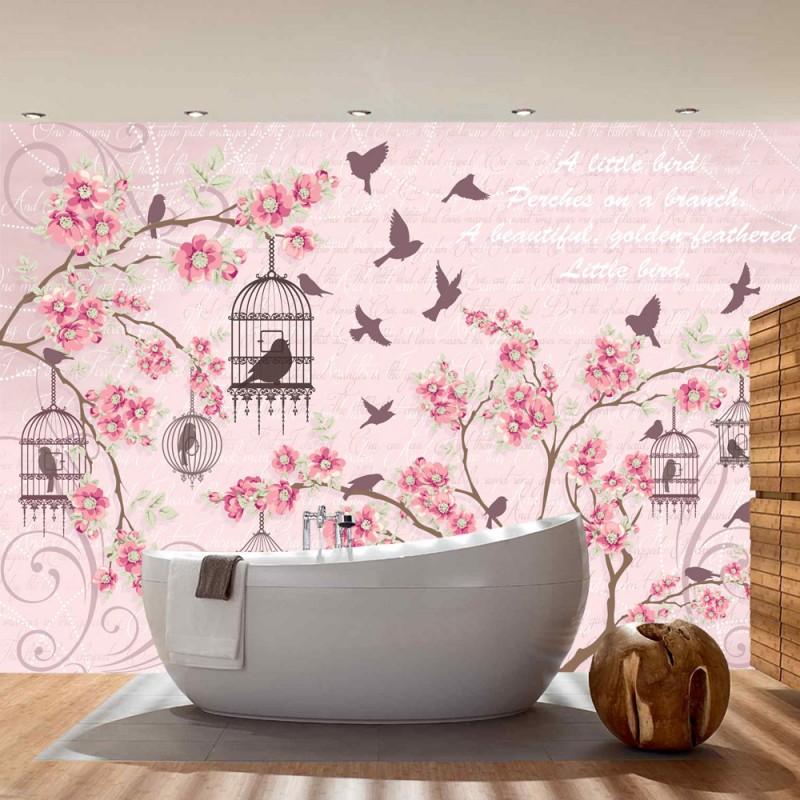 vlies fototapete no 3015 vliestapete liwwing r illustrationen tapete blumen v gel k fig. Black Bedroom Furniture Sets. Home Design Ideas