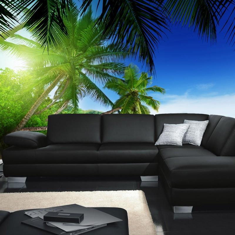 vlies fototapete no 3160 vliestapete liwwing r meer tapete palmen strand paradies wasser blau. Black Bedroom Furniture Sets. Home Design Ideas
