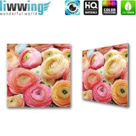 Glasbild ''no. 0677'' | Blumen Glasbild Pflanzen Natur bunt | liwwing (R)