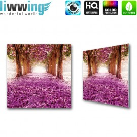 Glasbild ''no. 0721'' | Blumen Glasbild Pflanzen Natur Bäume lila | liwwing (R)