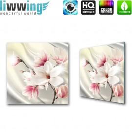 Glasbild ''no. 2725'' | Blumen Glasbild Magnolia Pflanze Natur weiß | liwwing (R)