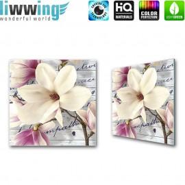 Glasbild ''no. 1512'' | Blumen Glasbild Magnolia Pflanze Natur weiß | liwwing (R)