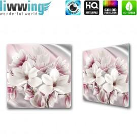 Glasbild ''no. 1750'' | Blumen Glasbild Magnolia Pflanze Natur rosa | liwwing (R)