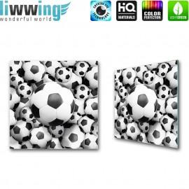 Glasbild ''no. 0977'' | Fußball Glasbild Sport Ball Jungen schwarz - weiß | liwwing (R)