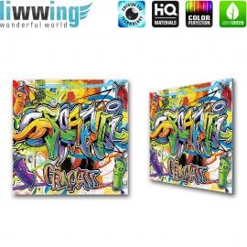 Glasbild ''no. 0342'' | Graffiti Glasbild Sprayer Kunst Schrift bunt | liwwing (R)