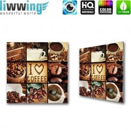 Glasbild ''no. 3142'' | Kaffee Glasbild Bohnen Trinken Koffein braun | liwwing (R)