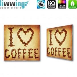 Glasbild ''no. 3278'' | Kaffee Glasbild Bohnen Trinken Koffein braun | liwwing (R)