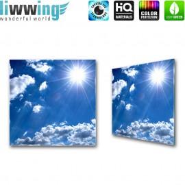 Glasbild ''no. 1620'' | Himmel Glasbild Wolken Sonne blau | liwwing (R)