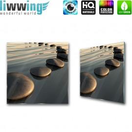 Glasbild ''no. 2846'' | Wasser Glasbild Steine Wasser Natur anthrazit | liwwing (R)