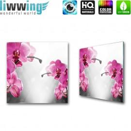 "Glasbild ""no. 0152""   Orchideen Glasbild Blume Natur Pflanze Wellness braun   liwwing (R)"