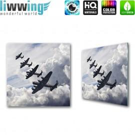 Glasbild ''no. 2576'' | Sonstiges Glasbild Flugzeug Himmel Wolken blau | liwwing (R)