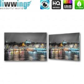 Glasbild ''no. 1283'' | Istanbul Glasbild Stadt Skyline Nacht Türkei bunt | liwwing (R)