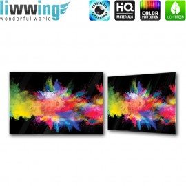 Glasbild ''no. 2424'' | Kunst Glasbild Farben Splash Holi bunt | liwwing (R)