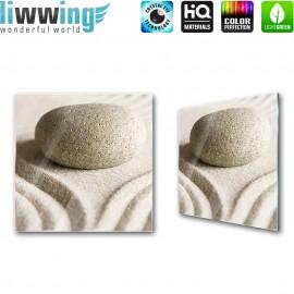 """Glasbild """"no. 0205""""   Wellness Glasbild Stein Sand Muster beige   liwwing (R)"""