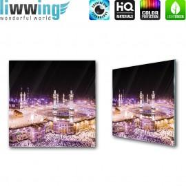 Glasbild ''no. 1406'' | Religion Glasbild Kaaba Gebäude Mekka Saudi-Arabien lila | liwwing (R)