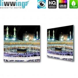 Glasbild ''no. 2539'' | Religion Glasbild Kaaba Gebäude Mekka Saudi-Arabien bunt | liwwing (R)