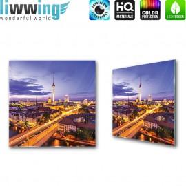 Glasbild ''no. 3272'' | Stadt Glasbild Berlin Fernsehturm Skyline blau | liwwing (R)