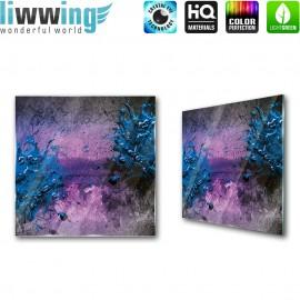 "Glasbild ""no. 0252"" | Kunst Glasbild Farbe Splash blau | liwwing (R)"