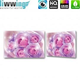 Glasbild ''no. 2058'' | Blumen Glasbild Rose Pflanzen Natur lila | liwwing (R)
