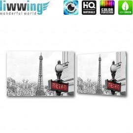 Glasbild ''no. 3036'' | Frankreich Glasbild Paris Eiffelturm Stadt schwarz - weiß | liwwing (R)