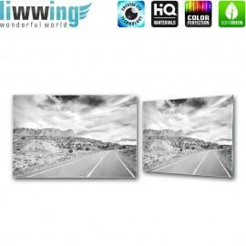 Glasbild ''no. 2556'' | Sonstiges Glasbild Straße Himmel Natur schwarz - weiß | liwwing (R)