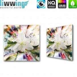 Glasbild ''no. 2423'' | Blumen Glasbild Blüte Abstrakt Muster bunt | liwwing (R)