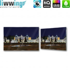 Glasbild ''no. 2818'' | Land Glasbild Branicki Palace Barockarchitektur Polen blau | liwwing (R)