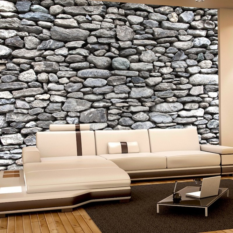 vlies fototapete rocky stone wall steinwand tapete steinoptik steine wand wall 3d braun. Black Bedroom Furniture Sets. Home Design Ideas