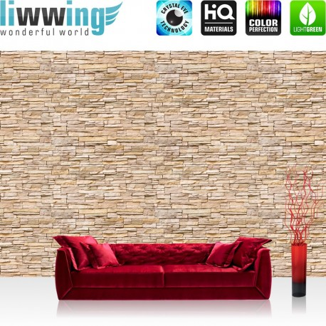 "Vlies Fototapete ""Asian Brick Stone Wall "" 