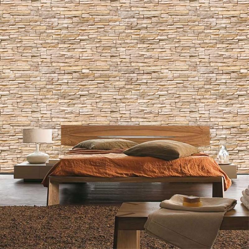 Fototapete steinwand hell  Vlies Fototapete Asian Brick Stone Wall   Steinwand Tapete Kleine ...