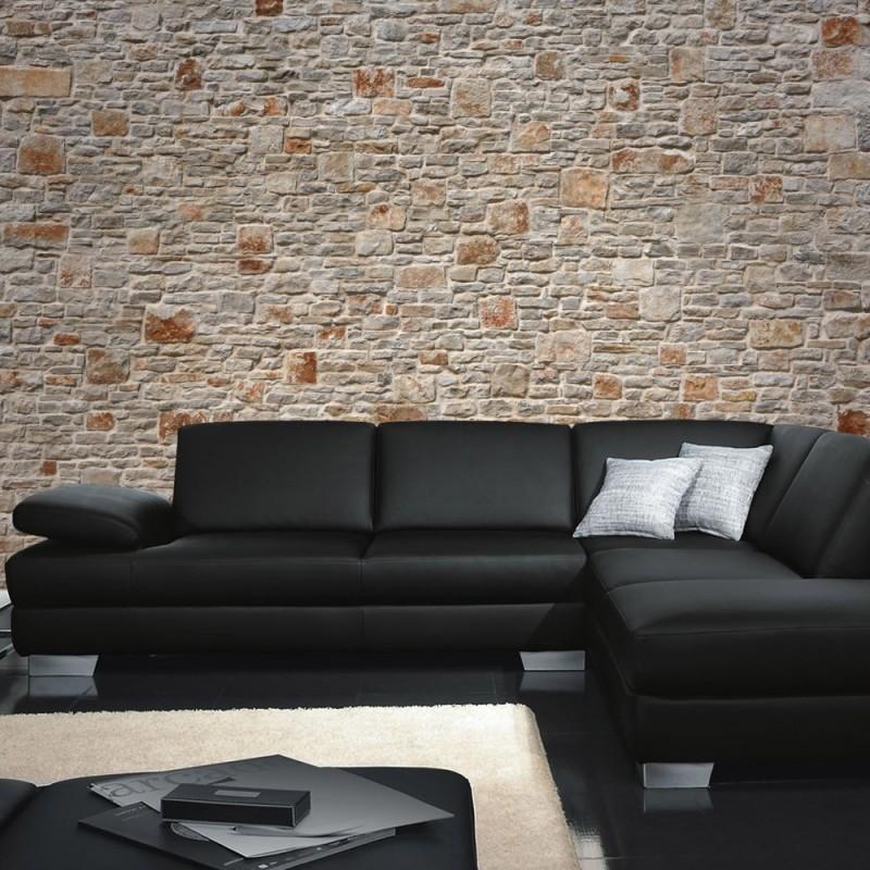 steine an der wand 20 bilder des steinwand imitat zuhause dekoration ideen wei e und gelbe. Black Bedroom Furniture Sets. Home Design Ideas
