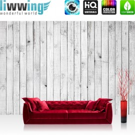 """Vlies Fototapete """"White painted Wooden Wall"""" 
